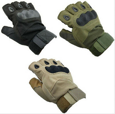 Motorcycle Bicycle Sports Half Finger Fingerless Tactical Hunting Cycling Gloves