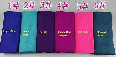 Jersey Hijab Whole sell 10 pieces per lot Solid Color Scarf women Free Shipping