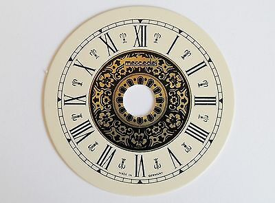 Printed Clock Dial 62Mm Dia With Black Roman Numerals 478B