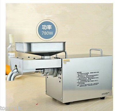 Automatic Stainless Steel Home Oil Press Expeller For Oil Production Seasame