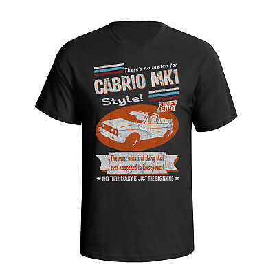 Volkswagen Golf VW Cabriolet MK 1 Retro Style Mens Car T-Shirt