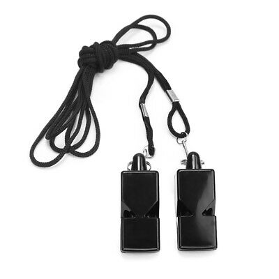 New 2Pcs Referee's Sports Whistle Keyring School Teacher Pe Football Rugby Party