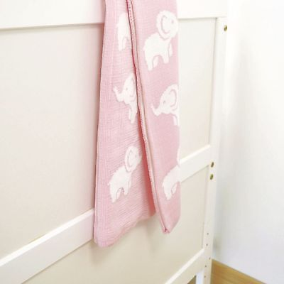 4Baby Knitted Cot / Pram Blanket Ellie Pink Machine Washable Great Gift Idea