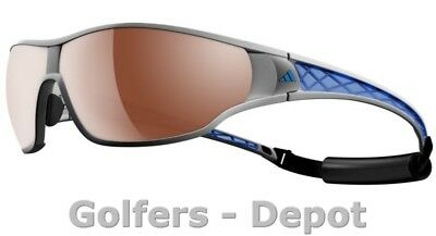 Adidas Brille a189 tycane pro L silvermet blue 6053 LST Polarzied silver H+