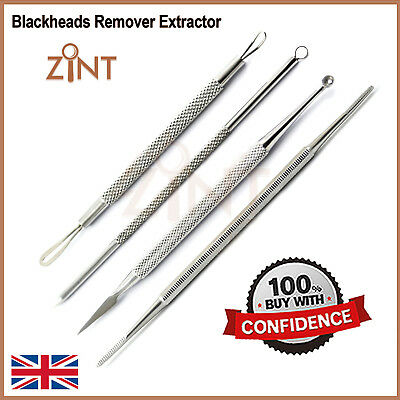 Blackheads Remover Extractor Acne Blemish And Black Nail File Facial Tools Kit
