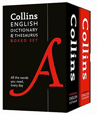 Collins Children English Dictionary and Thesaurus Collection 2 Book Box Set Pack