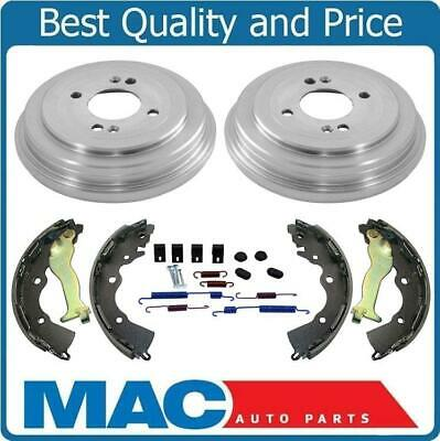 Fits 06-11 Rio 07-11 Accent (2) Brake Drums & Shoes & Brake Springs