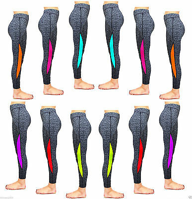 Womens Ladies Fitness Yoga Running Gym Exercise Sports Leggings Trousers 8-18