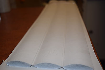 2 inch Vinyl Pleats Snow White Auto Marine Upholstery Seat Material