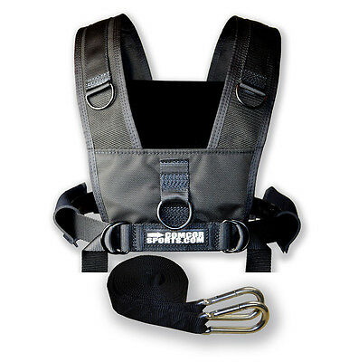 Youth Sled Harness - Padded Shoulders - Black