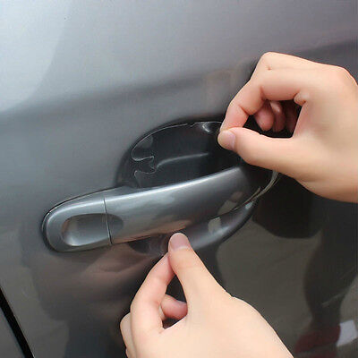 8Pcs Universal Auto SUV Door Handle Invisible Protector Films Scratches Stickers