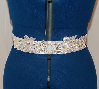 * NEW * stunning Crystal Rhinestone Bridal Wedding belt dress sash beaded