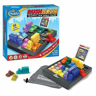 Rush Hour Traffic Jam Logic Puzzle Think fun Board Challenge Game 8+
