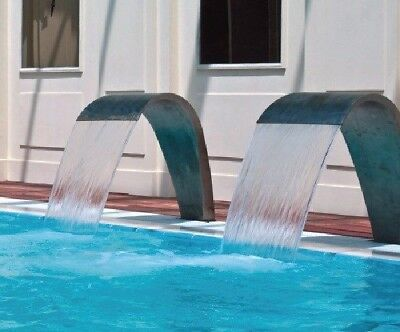 Swimming Pool Waterfall Made of Stainless Steel for Garden Pond and