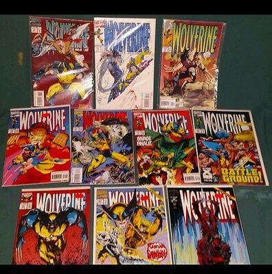 WOLVERINE MIXED TITLES SMALL LOT of 10 MARVEL comics