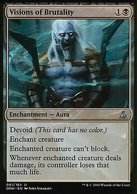 4x Visions of Brutality | NM/M | Oath of the Gatewatch | Magic MTG