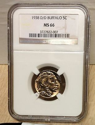 1938-D/D MS-66 NGC Buffalo Nickel