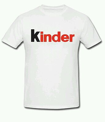 Kinder TShirt All Colours & Sizes Retro Vintage Style New Egg Chocolate