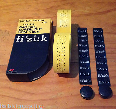 1 x Fizik Bright Yellow Classic Vented Microtex Handle Bar Tape Free Track Post