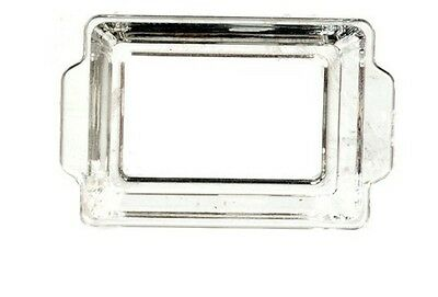 Clear Plastic Tray, Dolls House Miniatures, 1.12th Scale, Food Tray