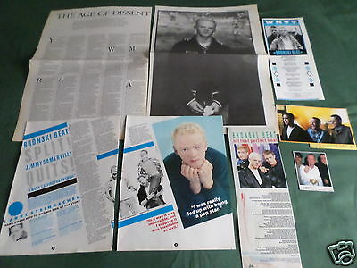 Bronski Beat - Pop Group-  Music- Clippings /cuttings Pack