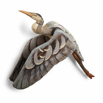 Flying Heron Wall Mount Decoy Grandpa's Attic Collection Big Sky Carvers