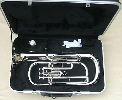 Nickel Plated Baritone Horn Outift Bb Key