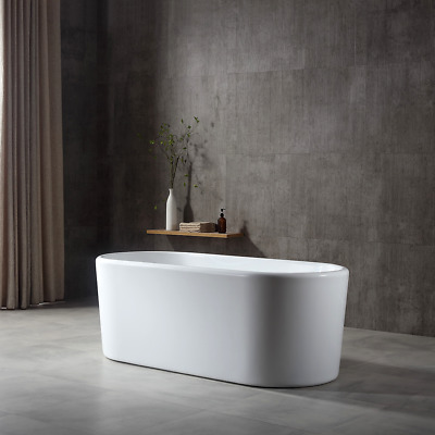 "Bathroom Acrylic Free Standing Bath Tub ""Thin Edge"" 1500x700x580 Freestanding"