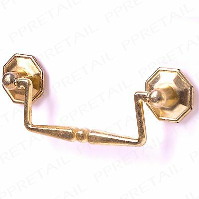 10 x brass drawer pull handle bedroom cabinet chest drawer door drop