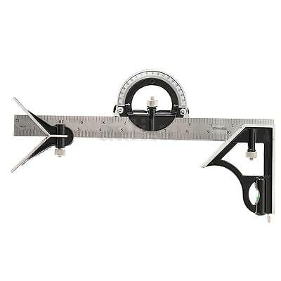 """12"""" Combination Square Ruler Steel Machinist Measuring Angle Tool Rule"""