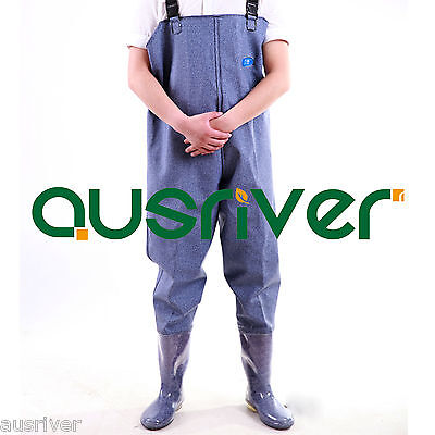 Premium Blue 0.95 PVC Glue Rubber Chest Fishing Wader Waterproof Wader Boots