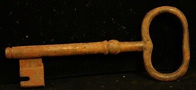 Antique/Primitive Skeleton Key Solid Arm Large Piece Ornate End Heavy-37T-#15!
