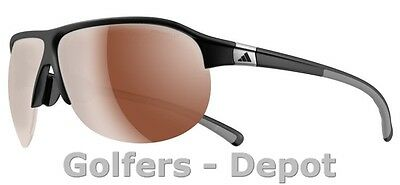 Adidas Brille a178 Tourpro L matt black grey 6057 LST Polarized silver