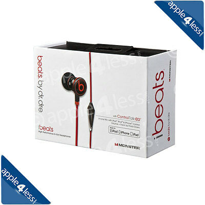 New Genuine Dr Dre iBeats In-Ear Headphones for iPod / iPhone - Black -