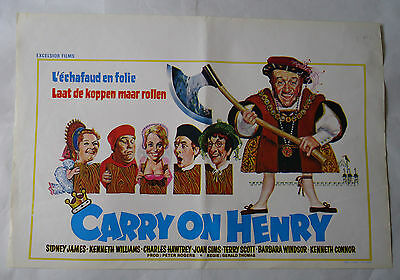 CARRY ON HENRY /belgian poster