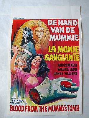 HAMMER/BLOOD FROM THE MUMMY'S TOMB /belgian poster