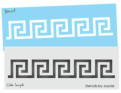 Stencil Greek Key Border Wall Art Cottage Chic Neo Classic Roman Decor Sign