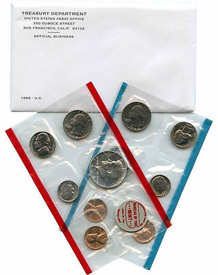 1968 P & D US Mint Uncirculated Coin Set
