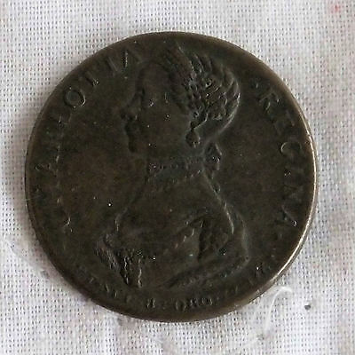 1761 KING GEORGE III & CAROLINE 26mm MEDAL