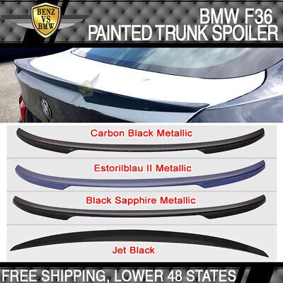USA STOCK 14-16 F36 4 Series Gran Coupe Performance Painted Trunk Spoiler ABS