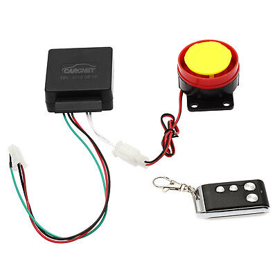 CARCHET Motorcycle Anti-theft Security Alarm System Engine Start Remote Control