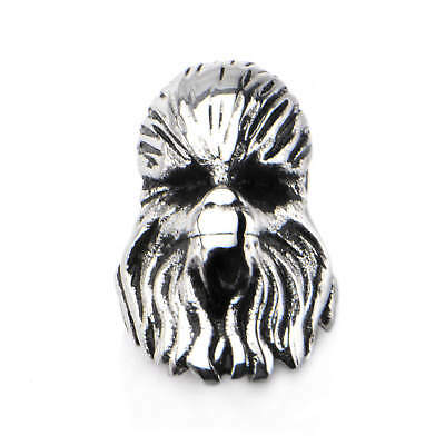 Star Wars 3D Chewbacca Stainless Steel Bead Charm