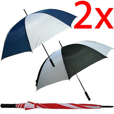 2 X 130Cm Golf Umbrella Canopy Wind Proof Fishing Strong Compact Lightweight New