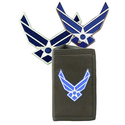 US Air Force Wings Set - Wallet, Pin and Small Patch