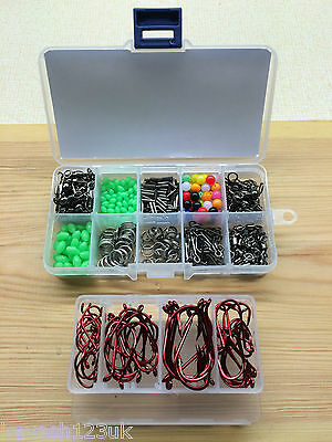 Sea Fishing Kit.Makes 50 + Rigs.Over 550 items in 2 Fully Loaded Tackle Boxes.