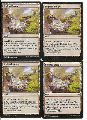 mtg Magic 4x Blighted Steppe ( Estepa corrompida ) English Excellent++