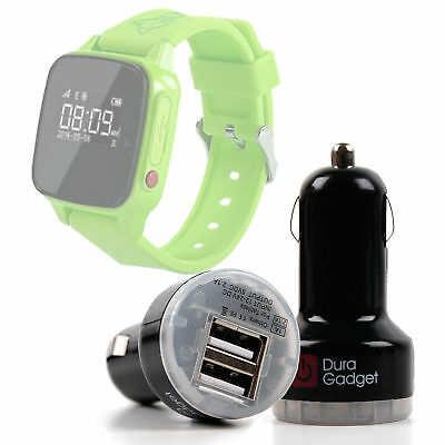 12V - Micro USB Port Car Charger for Haier SOS Connected Smartwatch