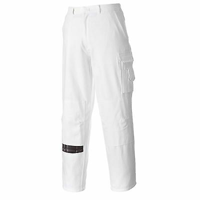 Portwest Decorators Cargo Work Trousers Pants Knee Pad Pockets XS - 3XL S817