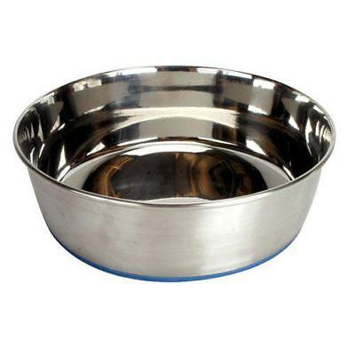 OurPets Durapet NO SKID Stainless Steel Food and Water DOG Bowl 1.25 Quart