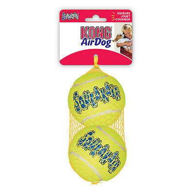 KONG AIR DOG 2-PACK Large Squeaker Tennis Balls - Dog Fetch Toy (AST1)